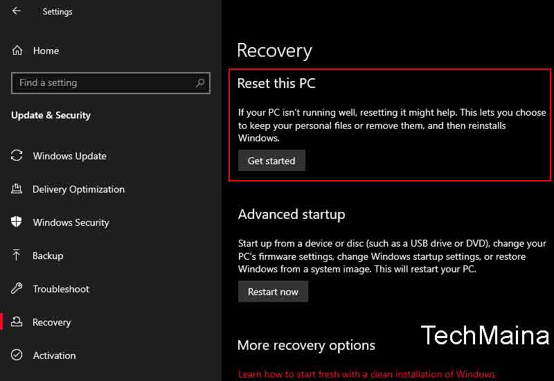 Reset Windows 10 (Final Choice)