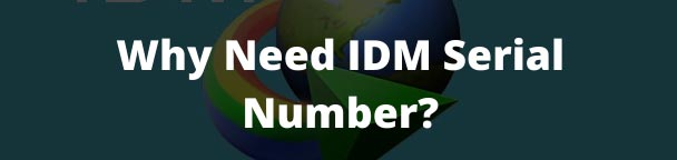 Why Need IDM Serial Number?