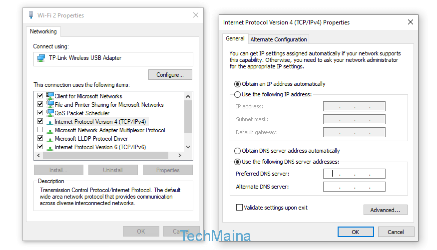 how to fix wifi connected but no internet