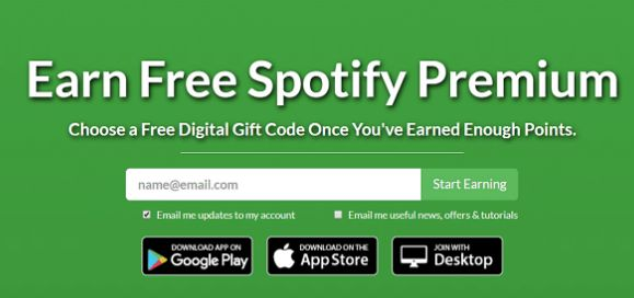 Get Free Spotify Premium Account Using Points and Cards