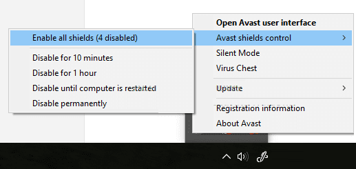 How to Reactivate the Disabled Avast