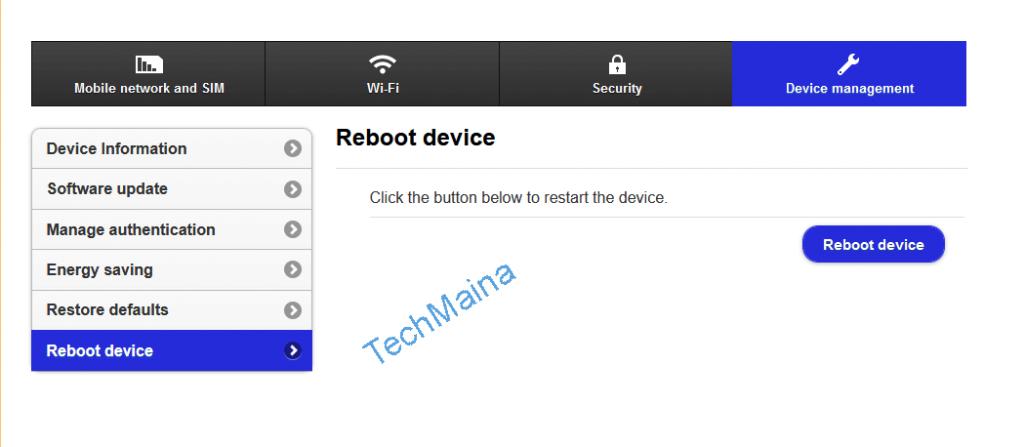 Restart your Router