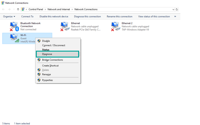 Use the Diagnose Feature in Control Panel 4