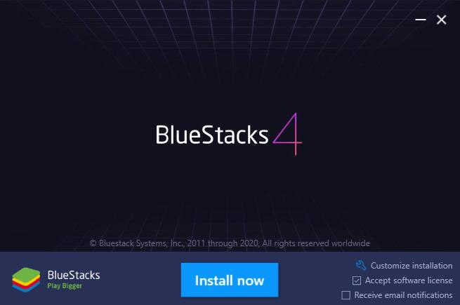 DownloadandinstallBluestack first