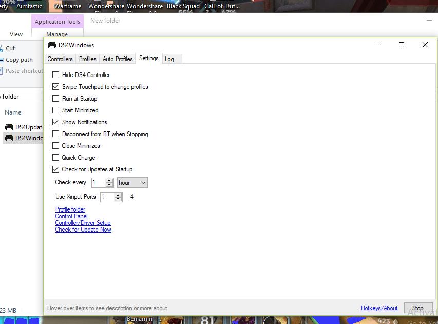 Enable Hide DS4 Controller Option