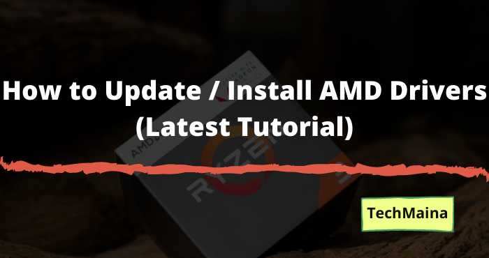 How to Update _ Install AMD Drivers (Latest Tutorial)