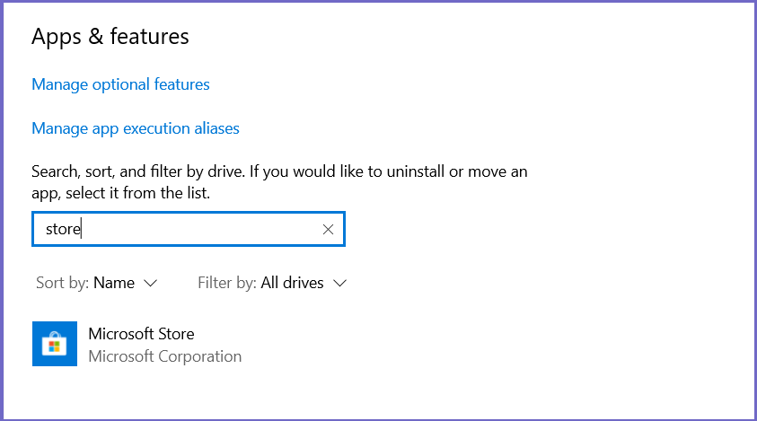 ResetWindows Store Apps