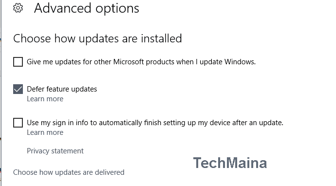 Turn off the Windows Update function