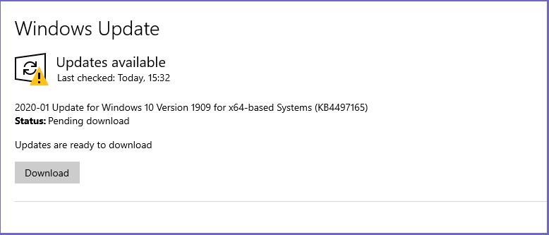 UpdateWindows to the Latest Version