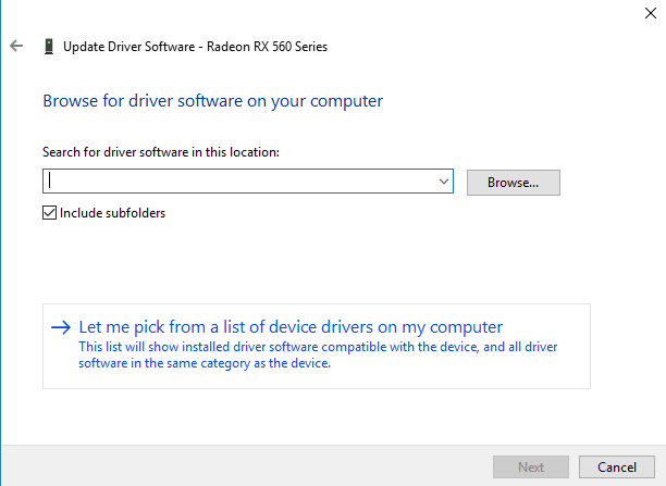 Using the Basic Display Driver from Microsoft