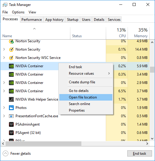 Open NVIDIA Control Panel Manually