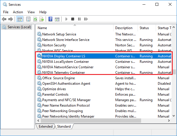 Restart Multiple Nvidia Services