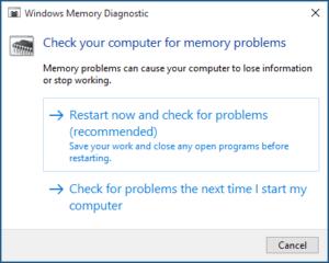 Run a Memory Check
