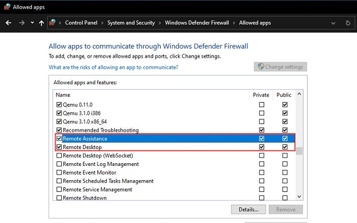 Enable Remote Desktop Assistance In Firewall