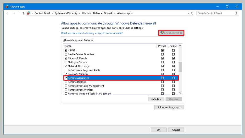 Allow The App To Access Windows Firewall