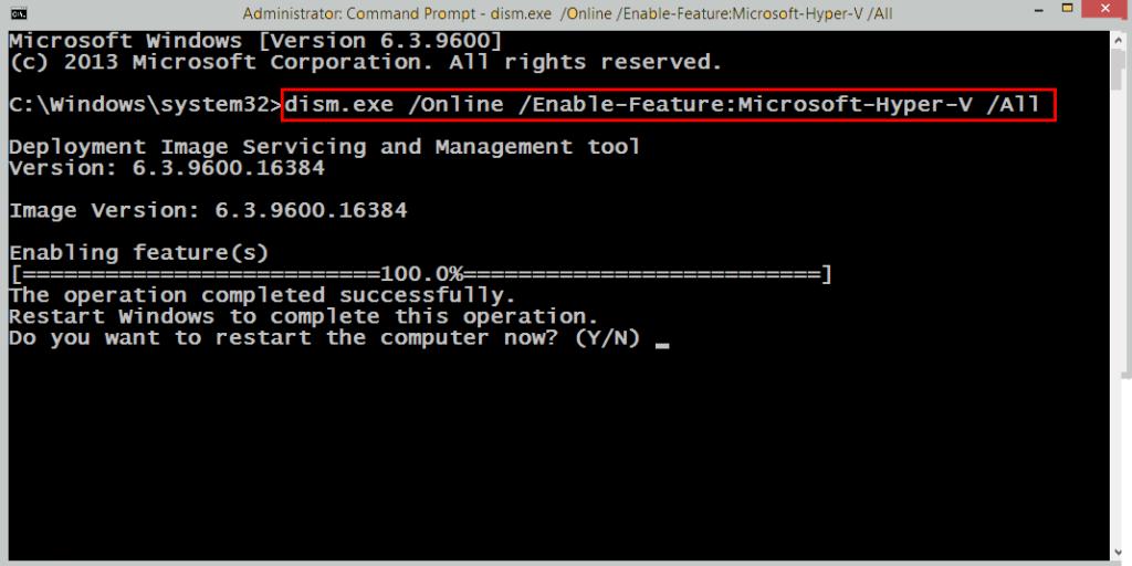Disable Microsoft Hyper-V