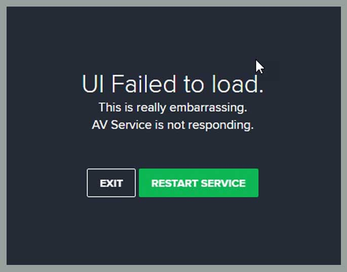 How To Fix Avast UI Failed To Load