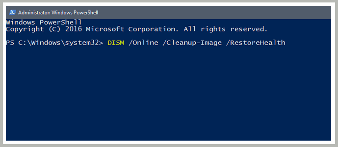 Repair Corrupt System in Powershell