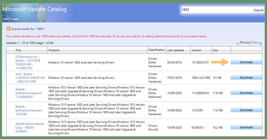 Through the Microsoft Update Catalog