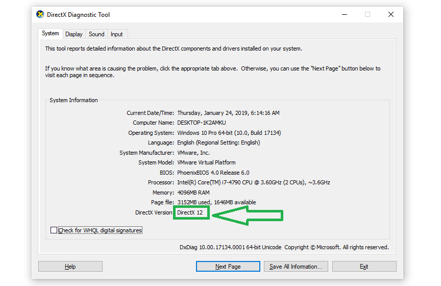 Update DirectX to the Latest Version
