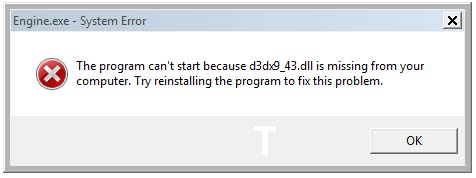 What is a D3dx9_43.dll File