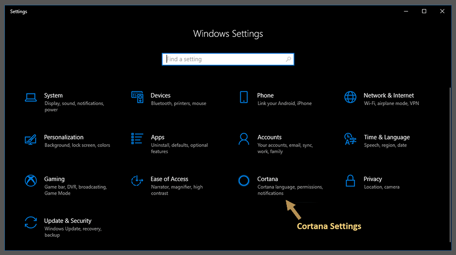 how to enable cortana