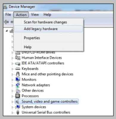 Add Legacy Hardware (Adding Devices Manually)
