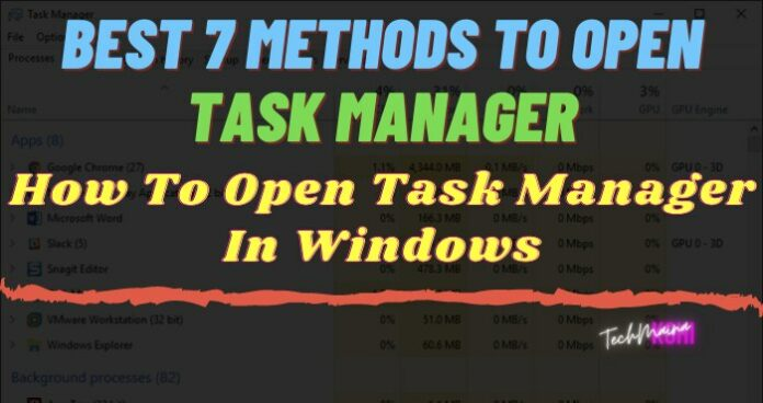 [Best 7 Methods] How To Open Task Manager In Windows