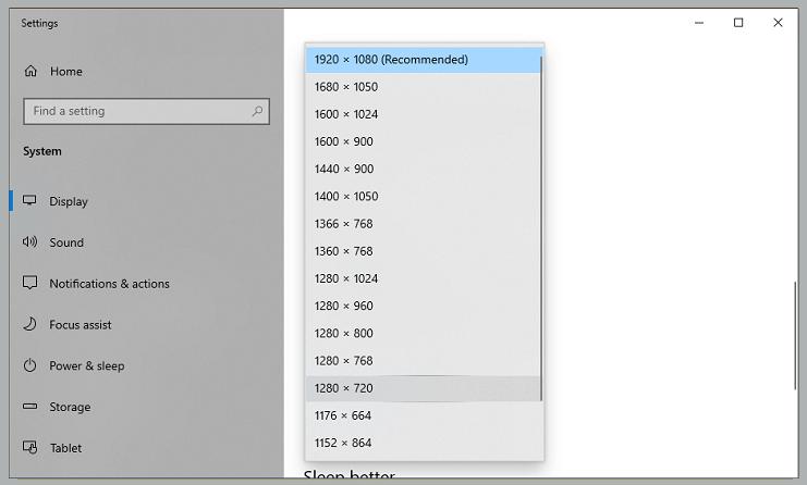 Change Screen Resolution