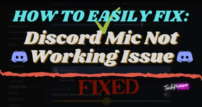 Discord Mic Not Working Issue