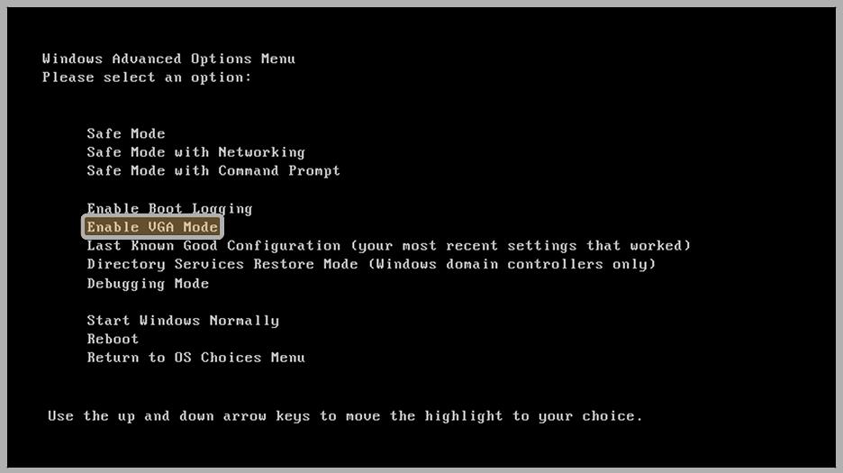 Enable VGA Mode