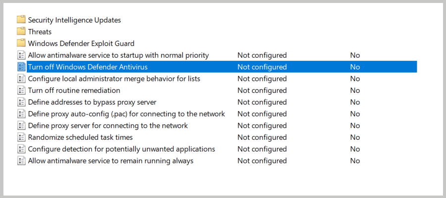How To Turn Off Windows Defender via Local Group Policy Editor