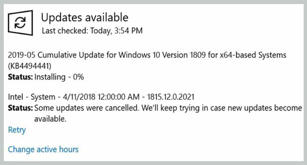 Install Available Windows Updates