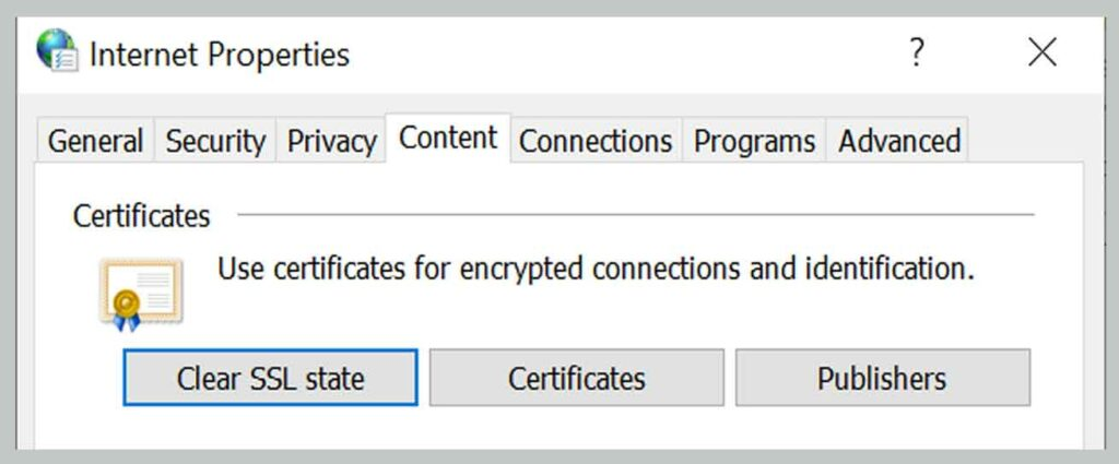 Removing SSL State 4
