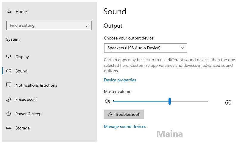Run the Audio Troubleshoot