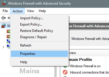 Second Way to Disable Windows Firewall