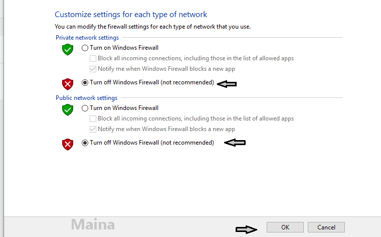 The First Way to Turn Off Windows Firewall