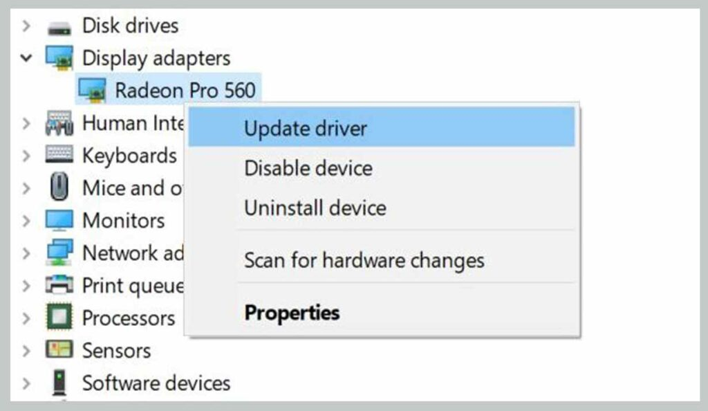Update Your Video Drivers