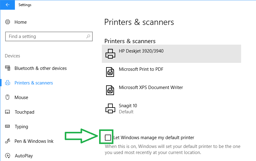 Change Default Printer settings Using Another User Account