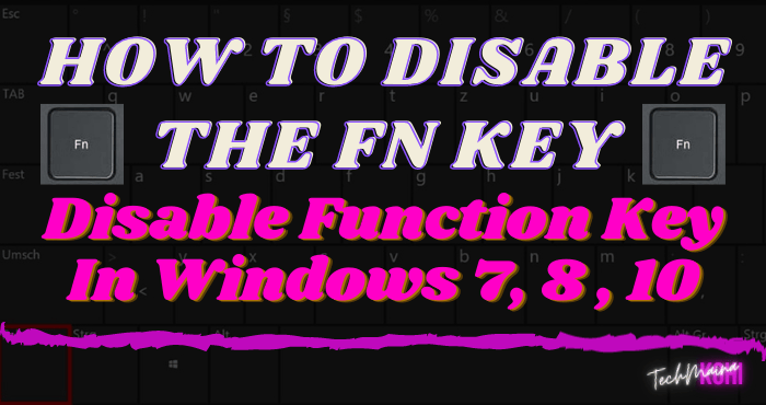 How To Disable The Fn Key [Function Key] In Windows 7, 8 , 10