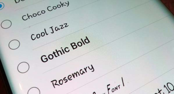 How to Change Android Fonts Style