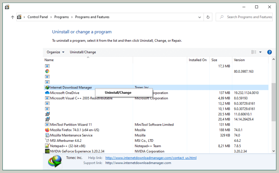 How to Uninstall IDM (Internet Download Manager) on Windows 2