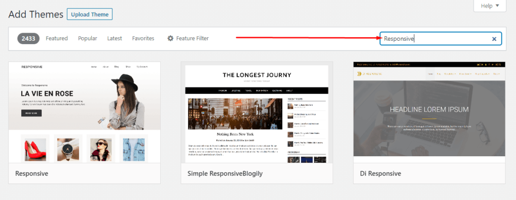 Install Responsive Themes 1