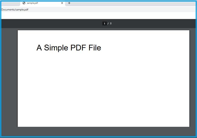 Open PDF Via Browser