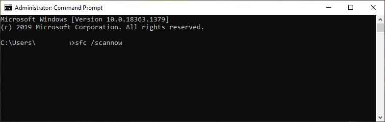 Perform a System File Checker Scan