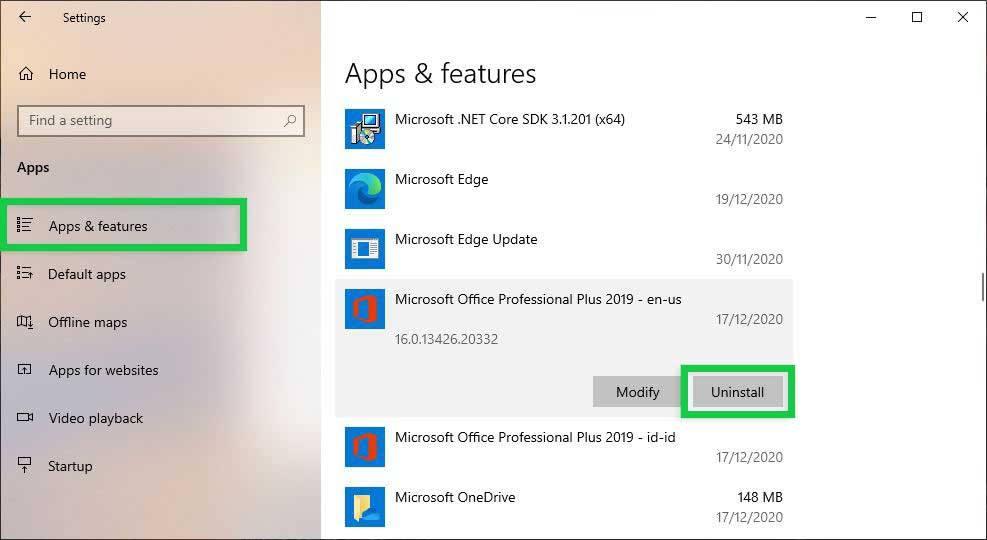 Reinstall Microsoft Excel