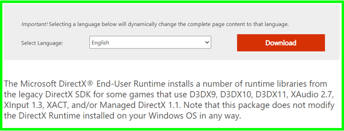 Reinstall & Update DirectX