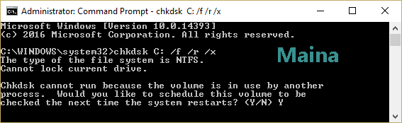 Run the System File Checker (SFC) and Check Disk (CHKDSK)