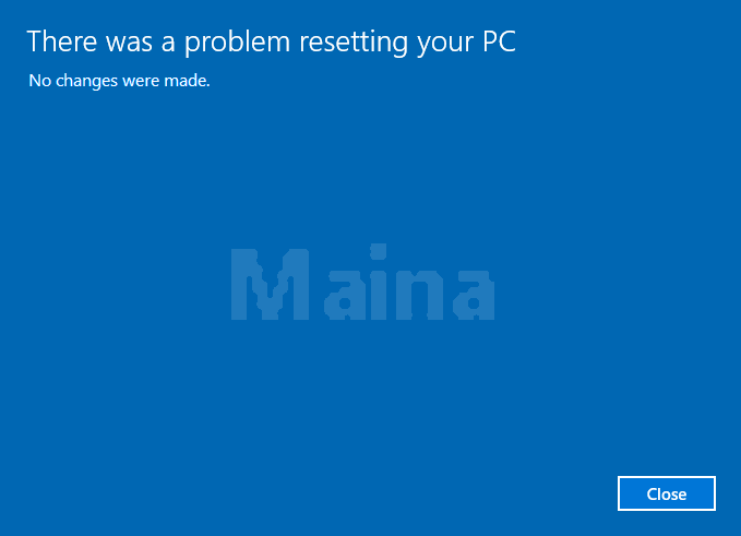 There Was a Problem Restarting Your PC
