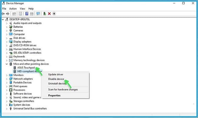 Through The Device Manager Feature
